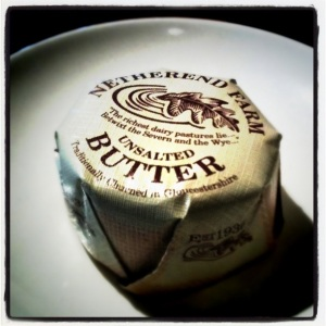 picture of a butter pat from Netherend Farm