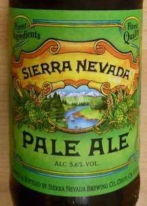 Beer bottle label - Sierra Nevada, brewed in the USA