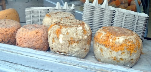 Mimolette Cheese. Image credit at bottom of blog post.