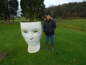 Sharon and a face